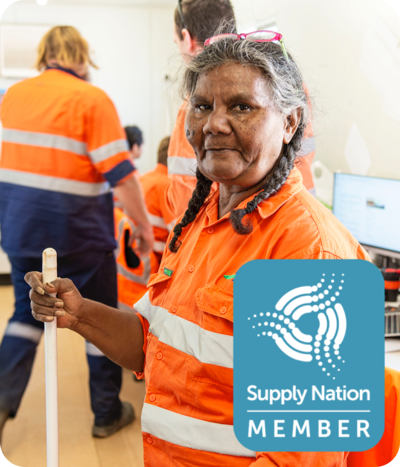 Indigenous Engagement - BMD Employee and Supply Nation Logo